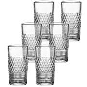 Jogo de copo de vidro alto Creta 260 ml 06 peças