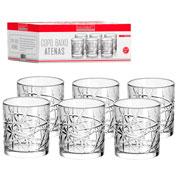 Jogo de copo de vidro baixo Atenas 315 ml 06 peças