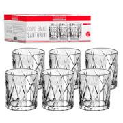 Jogo de copo de vidro baixo Santorine 315 ml 06 peças