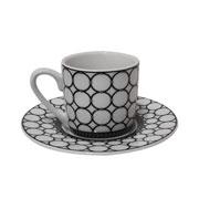 Jogo de xícara de porcelana para café elos 90 ml 12 peças