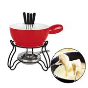Conjunto para fondue Lausanne vermelho 10 peças