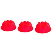Jogo de mini forma redonda vermelha hauskraft 11 cm 03 peças
