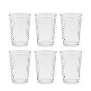 Jogo de copos de vidro latino dots 200 ml 06 peças