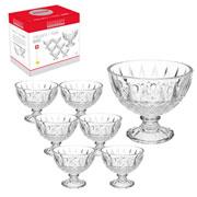 Jogo de sobremesa de vidro Dirce 07 peças - Hauskraft