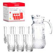 Conjunto Diamond jarra 1.5 litros com 06 copos 250 ml- Hauskraft