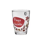 Jogo de canecas de vidro Printed para chá 230 ml 03 peças