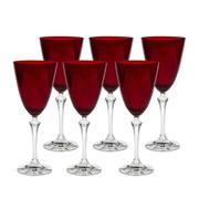 Jogo de taças para água Elisabeth vermelho 06 peças 350 ml