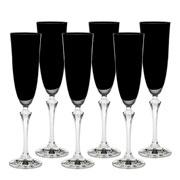 Jogo de taças elisabeth para champagne preto 06 peças 200 ml