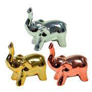 Elefante de cerâmica metalizado colors 06x03 cm