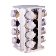 Porta condimentos inox giratório 16 peças