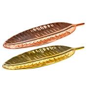 Enfeite folha de cerâmica metalizado colors