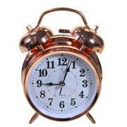 Despertador em metal rose gold 15 cm
