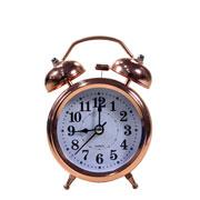 Despertador em metal rose gold 12 cm