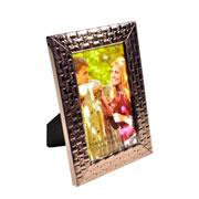 Porta retrato quadriculado bronze 10x15 cm