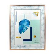 Porta retrato plástico marmore 15x20 cm