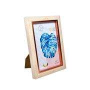 Porta retrato plastico madeira 10x15 cm