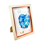 Porta retrato plástico madeira 15x20 cm