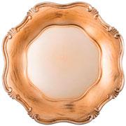 Sousplat Greco corinto ouro antigo 34 cm