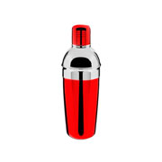 Coqueteleira de inox vermelha 500 ml - Euro