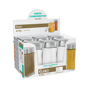Porta condimento de vidro Square 10 cm - Euro