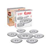 Conjunto de pratos de vidro rattan 07 peças - Euro