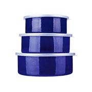 Conjunto de potes agatha azul 03 peças - Euro