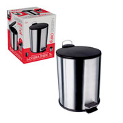 Lixeira de inox com tampa preta 5 litros