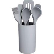 Conjunto de utensílios de silicone cinza 07 peças - Euro