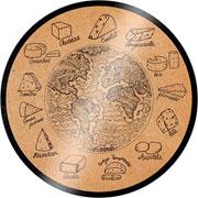 Tabua para queijo de vidro cortiça 25 cm