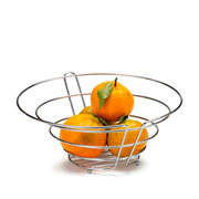 Fruteira de mesa new prata 31x14 cm
