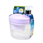 Porta detergente/ bucha branco 18 cm