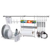 Conjunto cook home collection 9 cromado com 11 peças