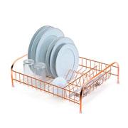 Escorredor de louças cama line rosê para 11 pratos