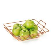 Fruteira quadrada Art Cook Rose 32x28x08 cm