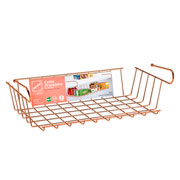 Cesto prateleira de encaixe line rose gold 38 cm