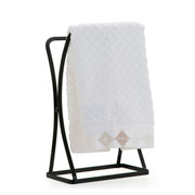 Porta toalha para lavabo linha black 19x11x31 cm