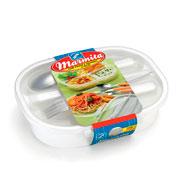Marmita com prato e talheres 6 peças