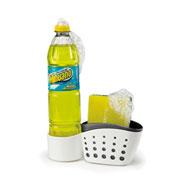 Porta detergente e bucha double 19x05x08 cm