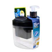 Porta detergente/ bucha preto