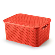 Caixa mosaico com tampa 16 litros vermelho
