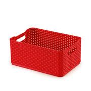 Caixa rattan 4,5 litros vermelho