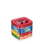 Pote hermético Quadrado vermelho 1.1 Litros