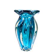 Vaso de Murano Jasmine Acqua 19x12 cm