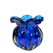 Vaso de Murano Chimera Safira 13x14 cm