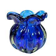 Vaso de Murano Chimera Safira 15x17 cm