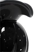 Enfeite de murano trouxinha baldélia preto 16 cm