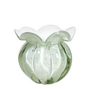 Vaso de Murano Chimera Perola 13x14 cm