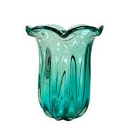 Vaso de murano manaca esmeralda 24x21 cm