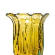 Vaso de murano baobá ambar 29 cm