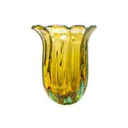 Vaso de murano baobá ambar 39 cm